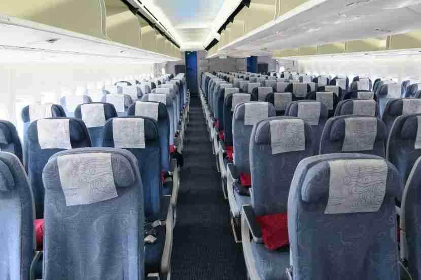 Air China 747-8i economy interior