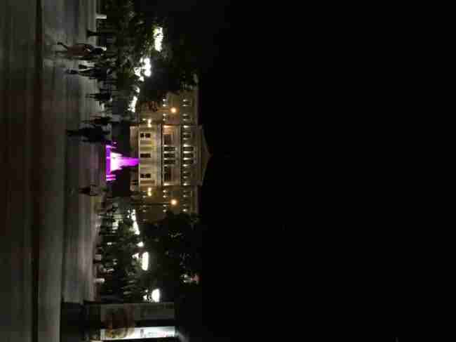 Syntagma Square at night. No sign of chaos here.