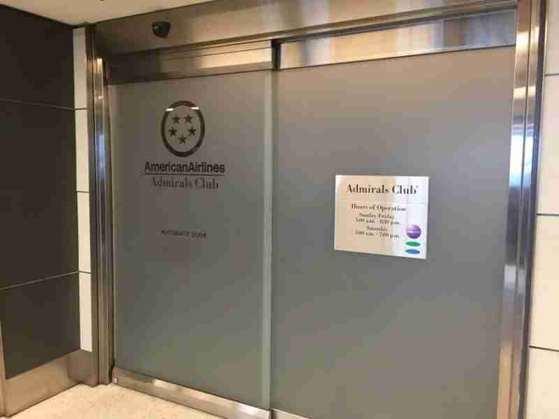 This unassuming entrance leads to one of the best domestic Admirals Clubs in the system.