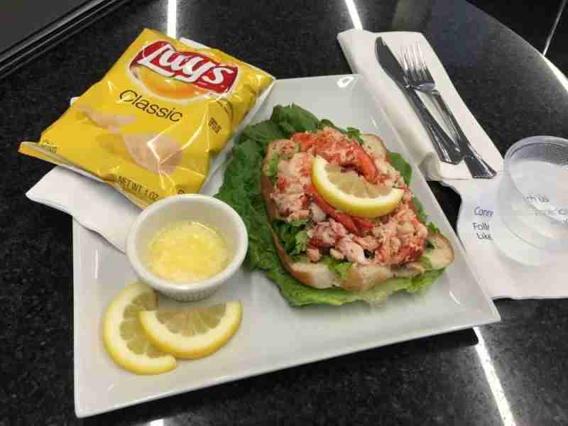 My first acceptable meal in an Admirals Club, the lobster roll wasn