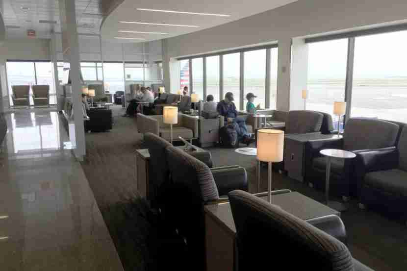 There was a much wider variety of seating options at the B30 Admirals Club.