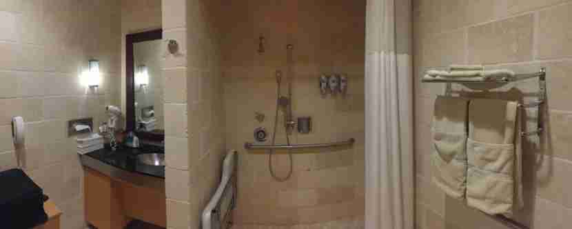 Unfortunately, this shower was poorly designed and spilled water everywhere.