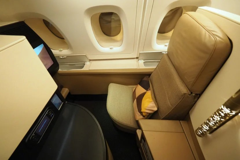 The business seat is large and comfy.