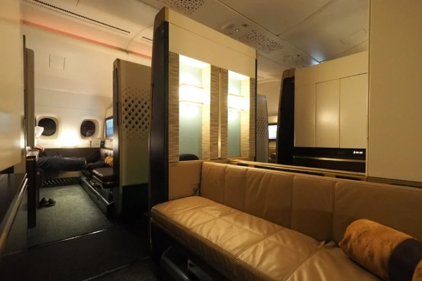 With a partition that lowers, seats in rows 3 and 4 are ideal for couples.