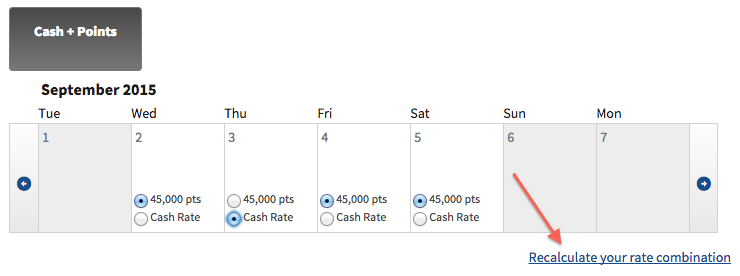 Marriott cash + points 1