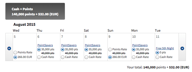 Marriott Cash + Points 8
