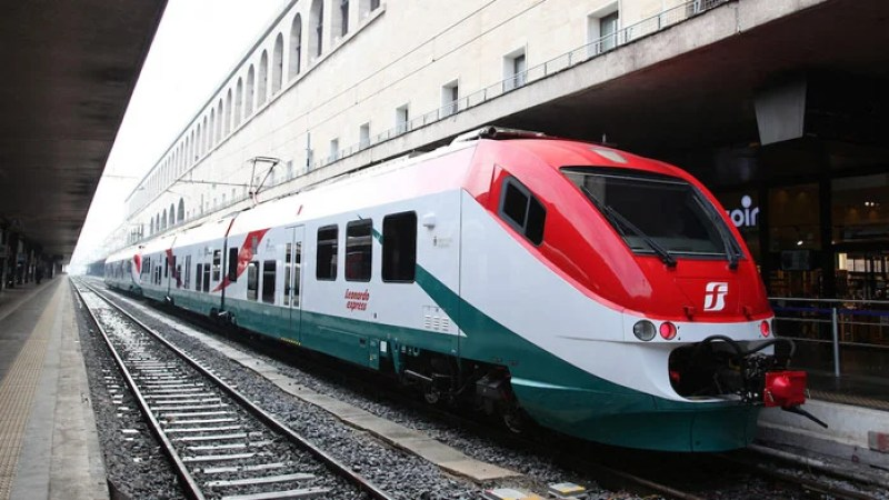 The Leonardo Express is by far the fastest, most convenient way into town. Photo courtesy of raileurope.com.