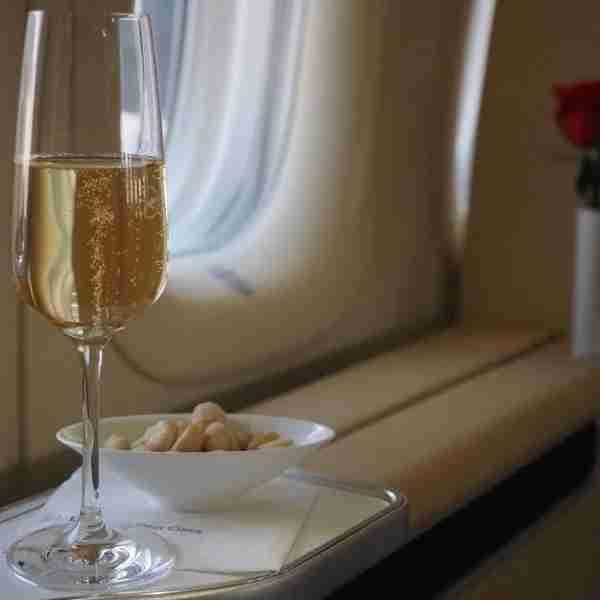 A nice pre-departure Champagne.