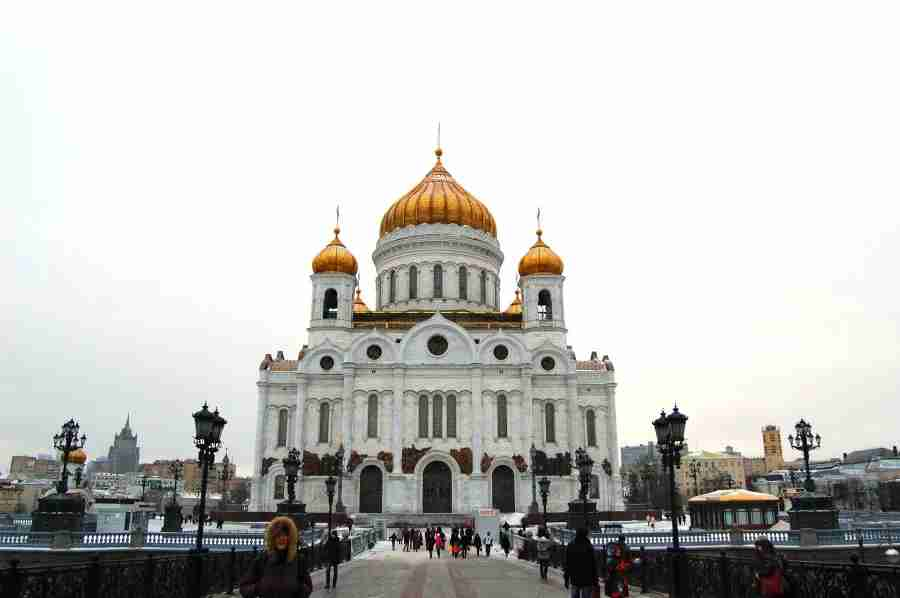 The Cathedral of Christ the Saviour in the Moscow.