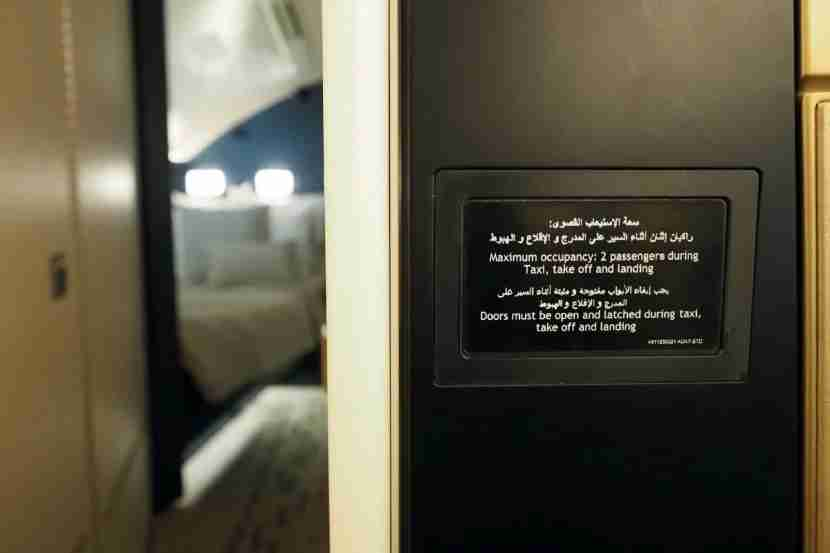 Etihad A380 The Residence - Occupancy Sign