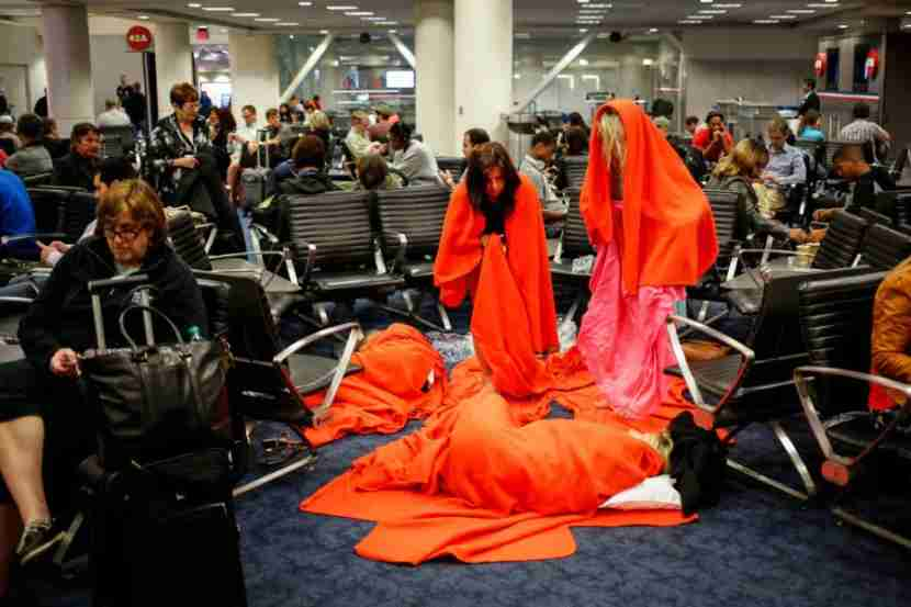 If you can get a hotel, you can avoid having to camp out in the airport terminal.