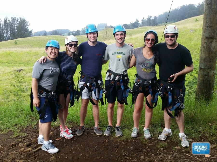 The TPG Crew in between zip line adventures