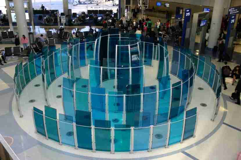 Art installation inside DFW. Photo courtesy of Dallas/Fort Worth International Airport.