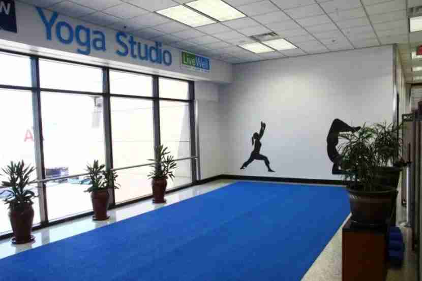 Yoga studio at DFW airport, between Terminals B and D.