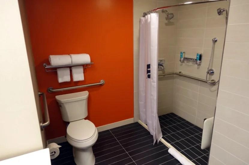 The accessible bathroom.