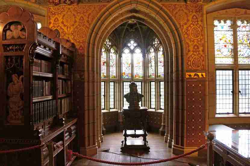 The 3rd Marquess of Bute was into libraries, and built himself a marvelous one.