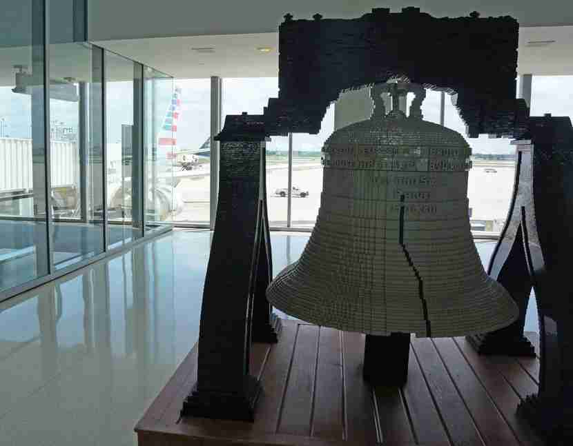 To find the Admirals Club in Terminal A West, look out for the Liberty Bell.