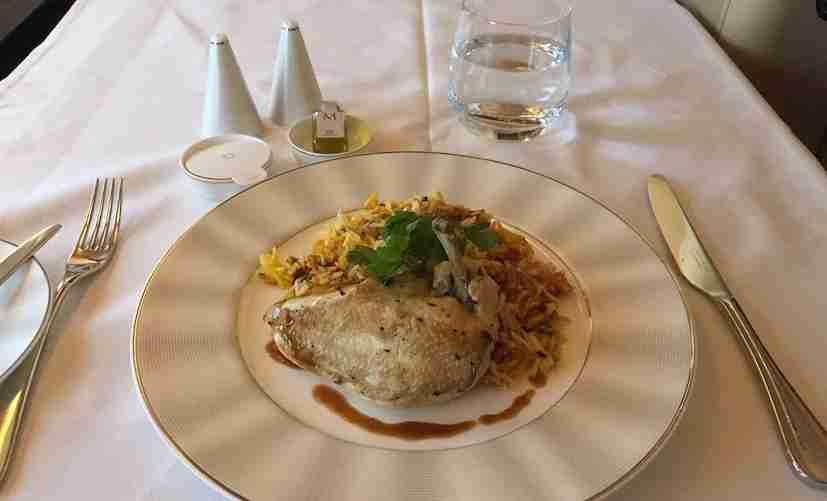 My chef, Ben, suggested I try the biryani chicken.