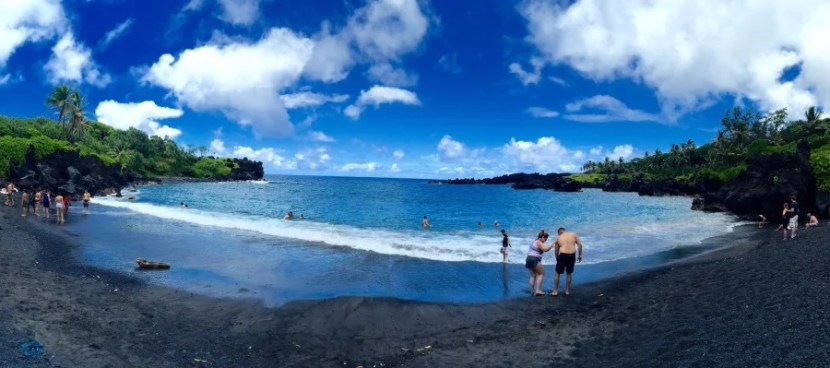 If you're really looking to save on a Maui vacation, Wai'anapanapa State Park offers camping that overlooks this black-sand beach.