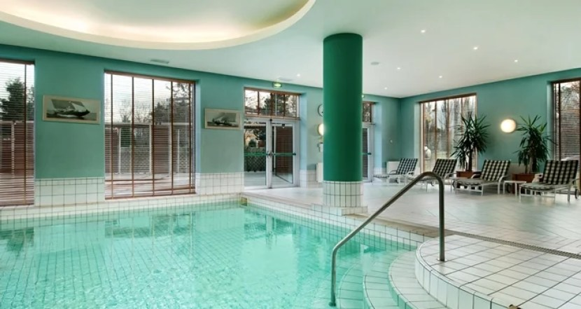 The indoor pool at the Hilton Sofia. Photo courtesy of the hotel.