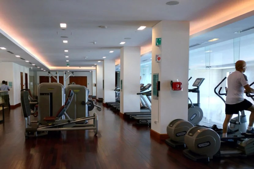 The hotel had a well-equipped, modern gym.