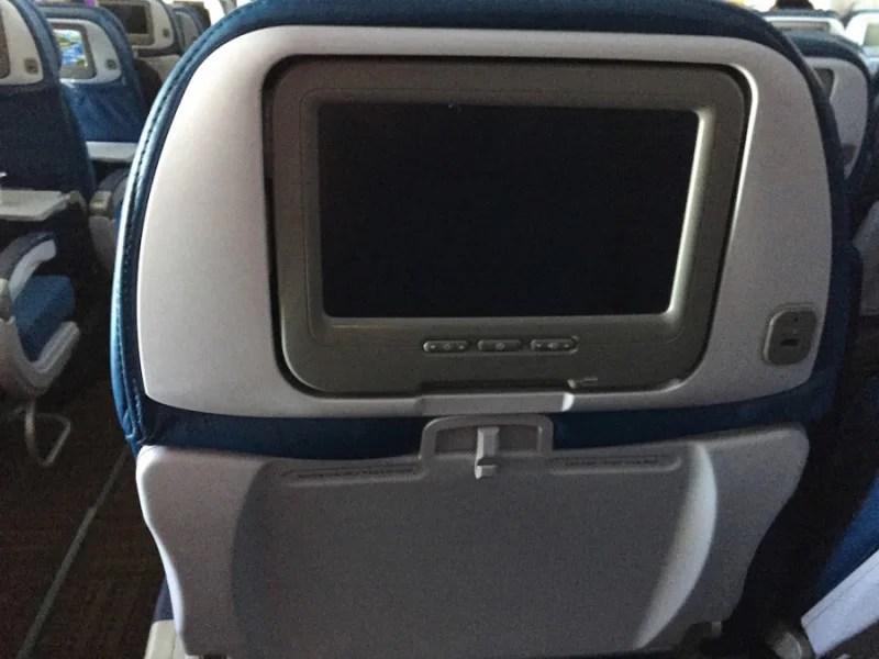 Hawaiian Airlines seat back entertainment screen