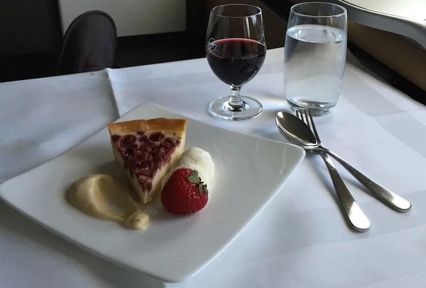 Strawberry tart for dessert.