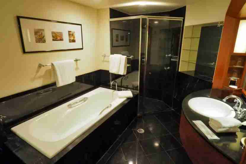 Each Park View room includes a large bathroom, with a separate tub and shower.