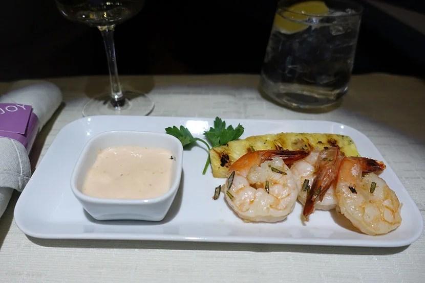 I chose the shrimp appetizer.