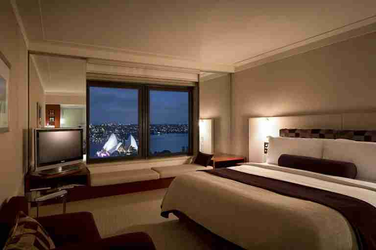 A room with a view at the Intercontinental Sydney.