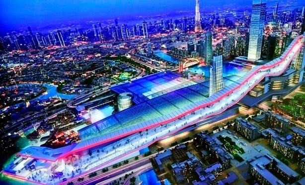 The new indoor ski resort will big — really big. Photo courtesy of Meydan City Corporation.
