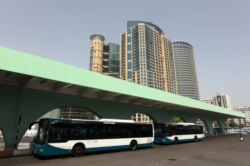 Public buses can take you from AUH to the main bus terminal in Abu Dhabi within 45 minutes — for about $1. Photo courtesy of Shutterstock.