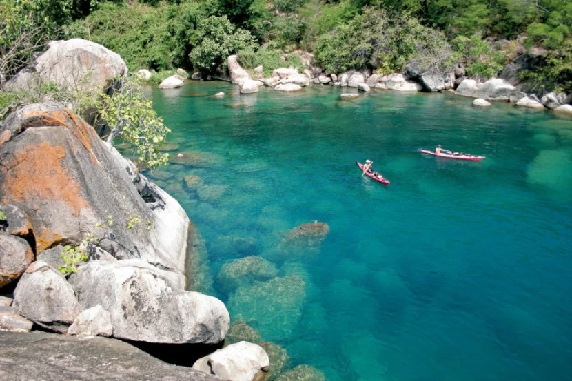 Kayaking or sailing on Lake Malawi — with clear water full of  more fish than any other lake on Earth — is a dream adventure for water enthusiasts. Photo courtesy of Shutterstock.