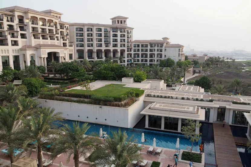 A view of the hotel from our suite.