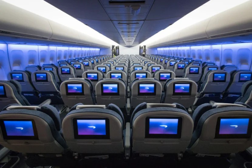 Economy seats in a 3-4-3 configuration on BA's refreshed 747. Photo courtesy: British Airways.