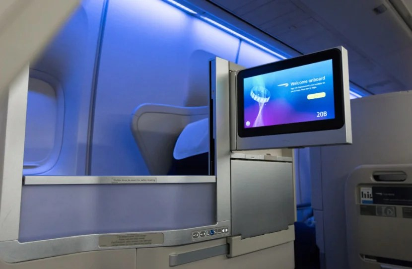 A new business-class seat on BA's refreshed 747. Photo courtesy: British Airways.