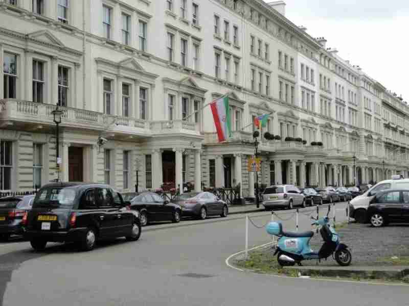 The Iranian embassy in London has just re-opened. Photo courtesy of Panoramio.