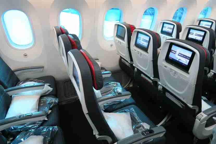 My row and the huge Dreamliner windows