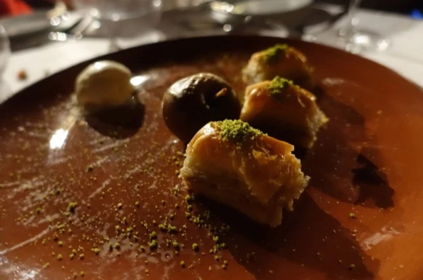 Baklava, perfectly prepared and beautifully presented.