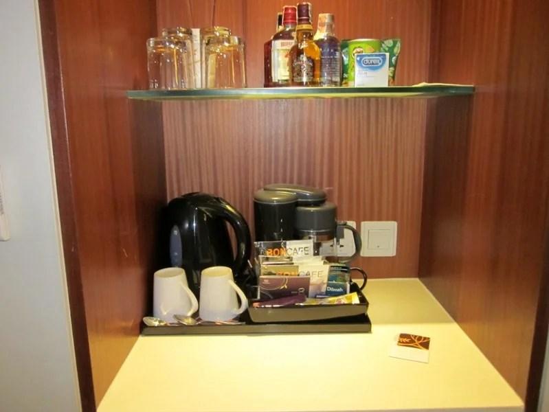 I always like having coffee and tea making facilities in the room
