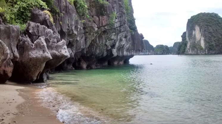 I fell in love with this deserted beach on one of the islands, kayaking over from my river cruise