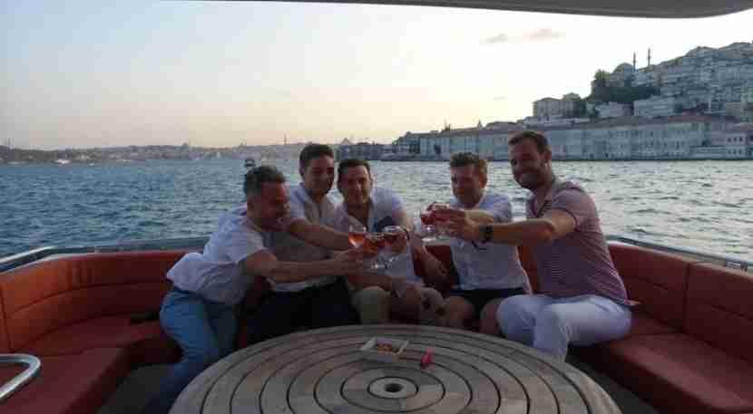 Nothing like toasting the sunset on the Bosporus!
