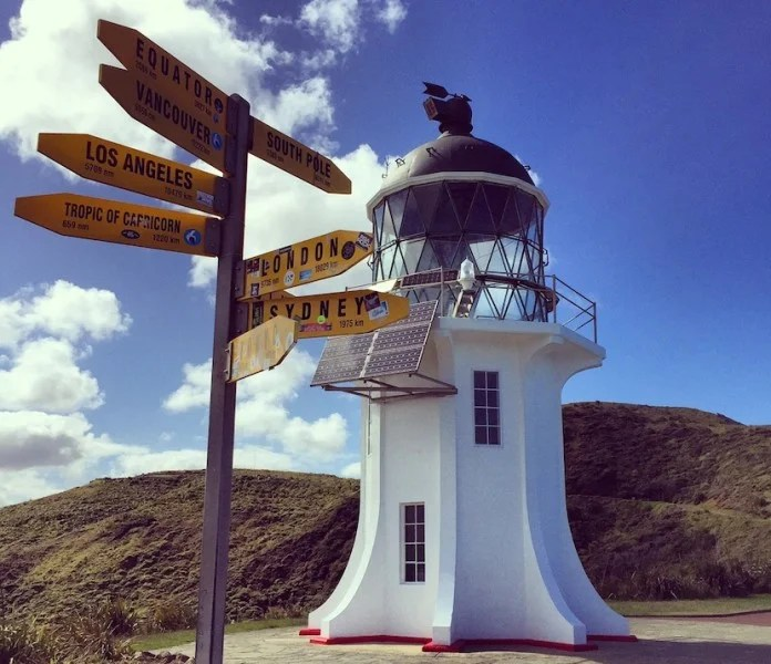 Visit the famous lighthouse at Cape Reinga, New Zealand's northernmost point.