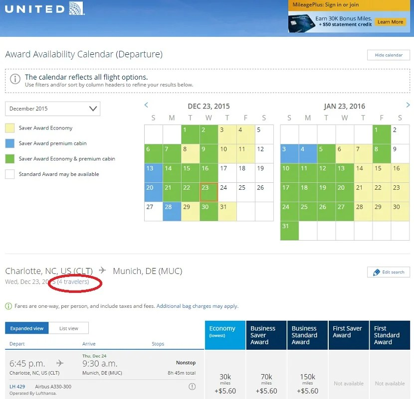 Lufthansa's flight from Charlotte to Munich is between hubs of different alliances, and usually has great award space.
