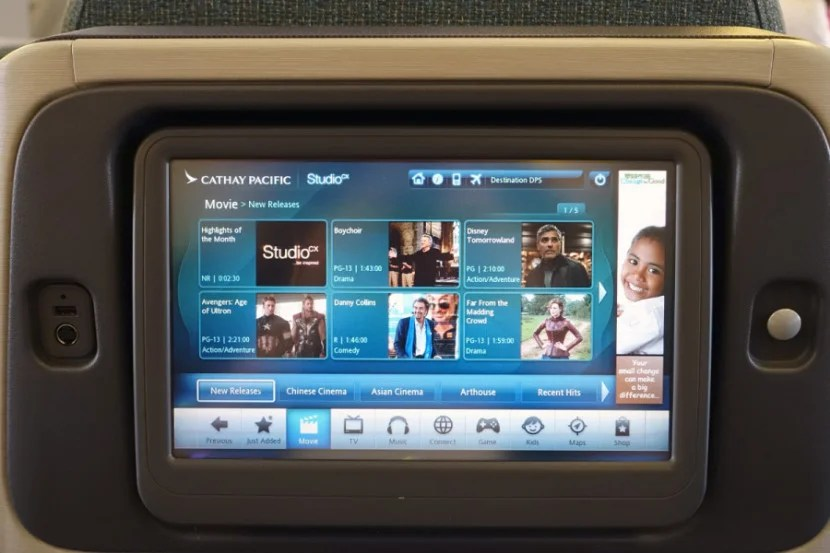 The 12.1-inch IFE system is sharp, with the same content as you'll find on long-haul flights.
