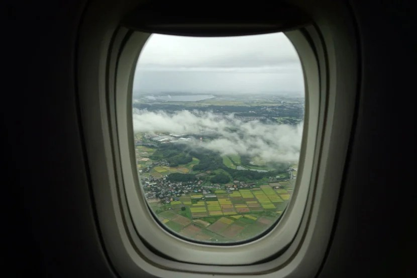 The view just before landing in Japan.