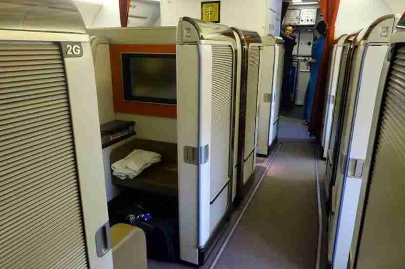 First class sliding door.