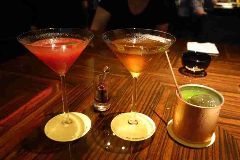 Drinks at New York Bar.