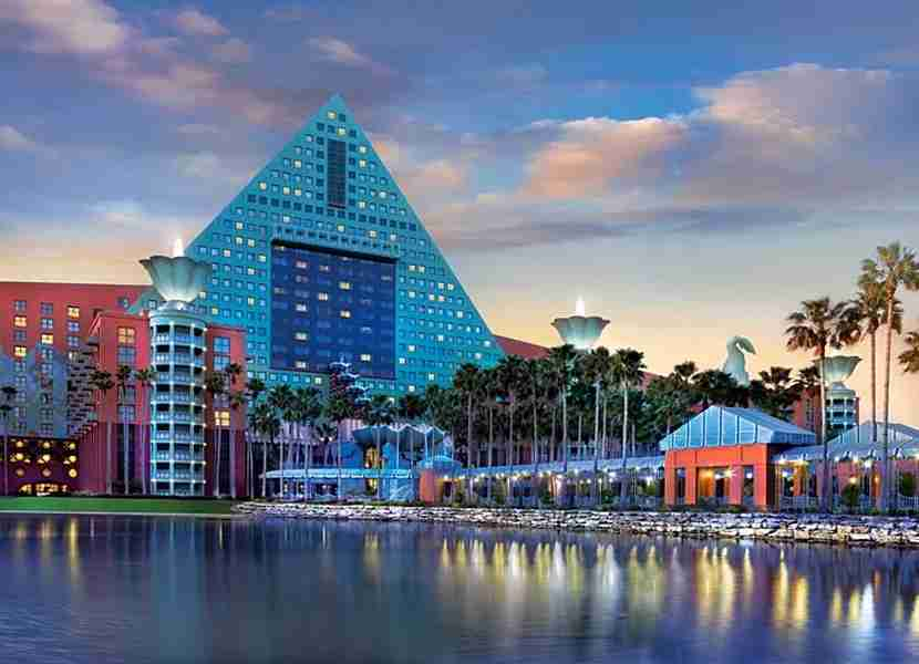 Families can use the annual night award that comes with the SPG Luxury Amex at the Disney Swan or Dolphin