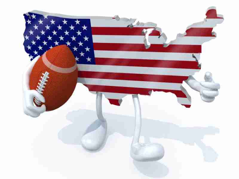 Photographic evidence that America loves football. Image courtesy of Shutterstock.